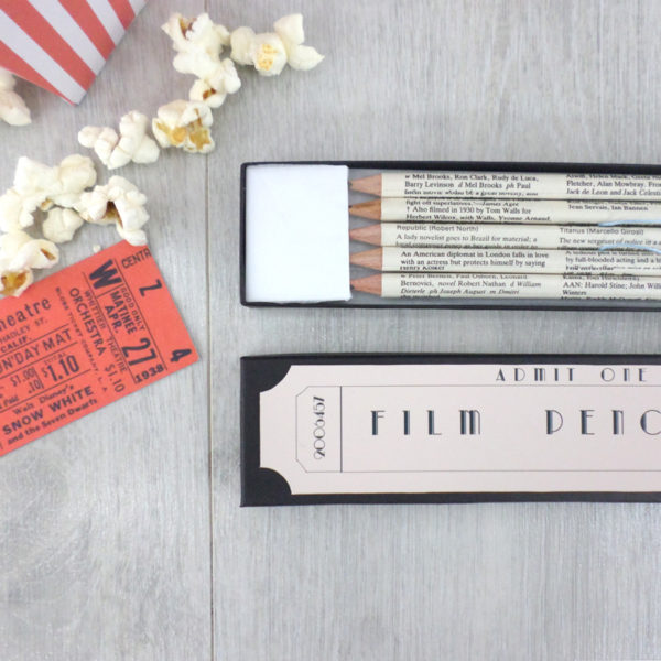film gift pencils set for movie buffs