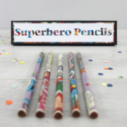 superhero gifts for boys comic book pencils