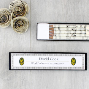 Gifts for music teachers personalised music pencils by six0six design