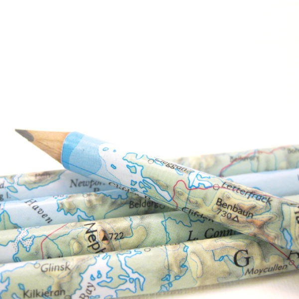 personalised map pencils gifts for teachers by six0six design