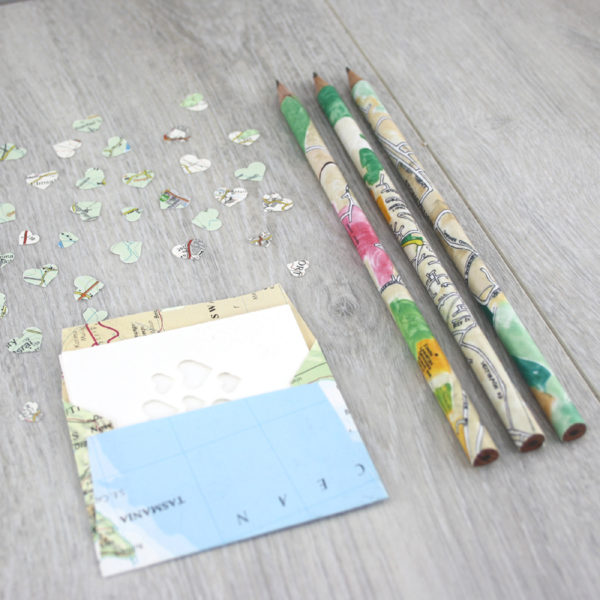 add map confetti and map envelope to your map pencils