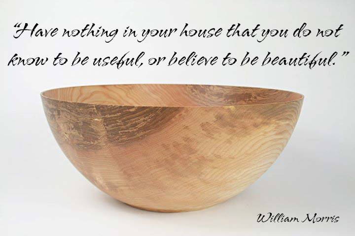 william morris quote woodturner matt jones