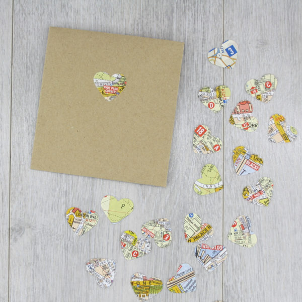 london map confetti gifts for geography lovers