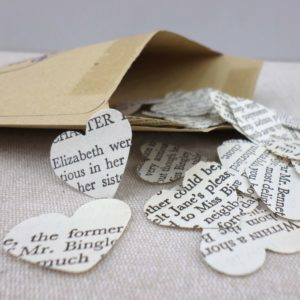 pride and prejudice confetti hearts
