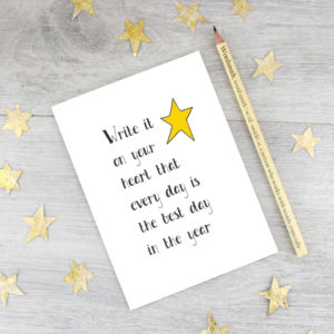 inspirational quote the best day of your life card by six0six design