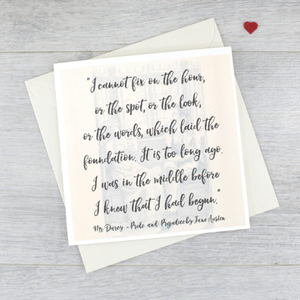 i was in the middle before I knew that I had begun quote card jane austen pride and prejudice