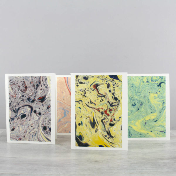 marbled paper notecards by six0six design