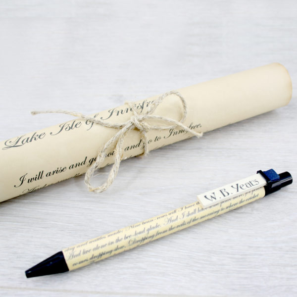 wb yeats irish poetry pen handmade in Ireland by six0six design