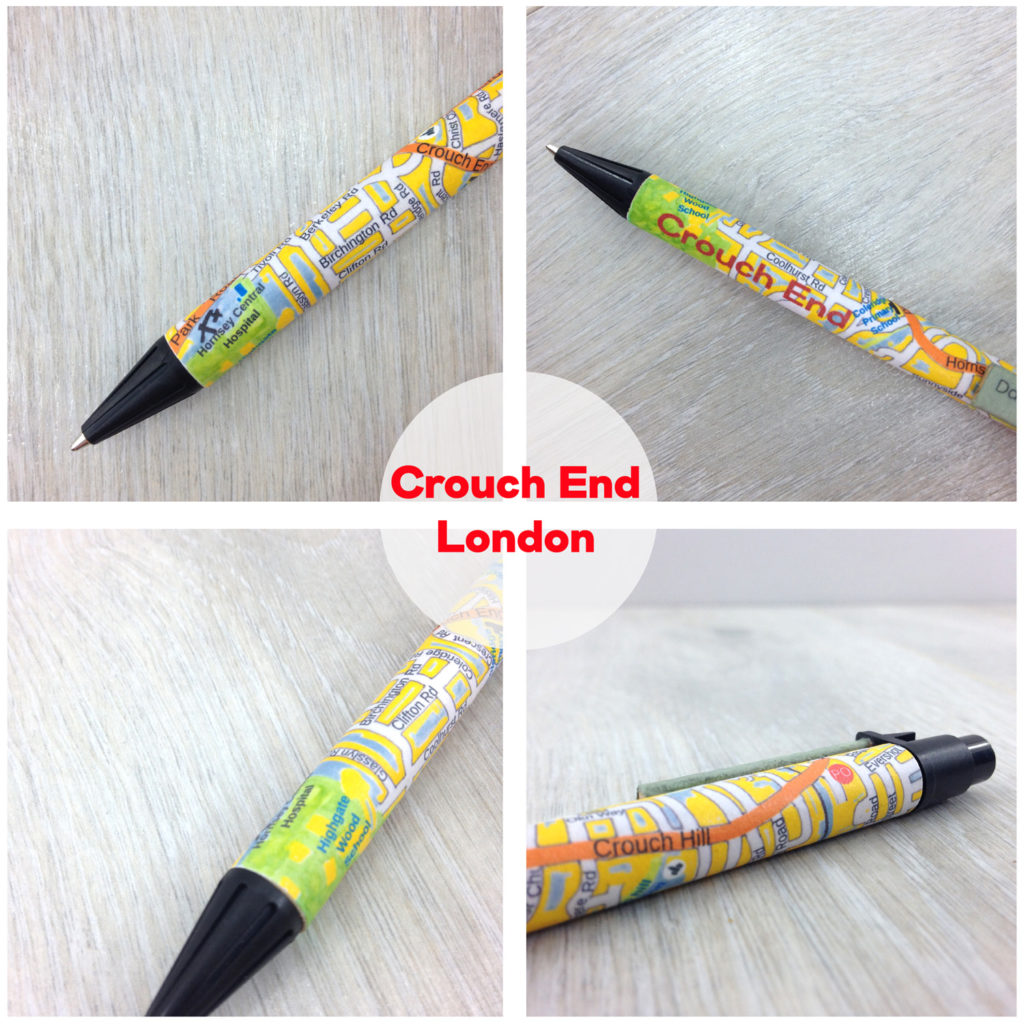 map location gifts crouch end map pen by six0six design