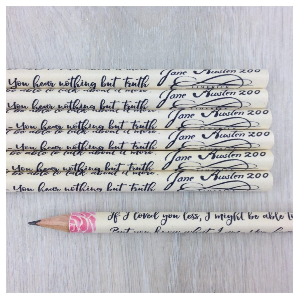 emma jane austen quote pencils for book lovers