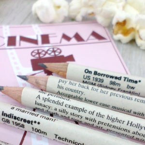 cinema pencils for movie buff. Gifts for him