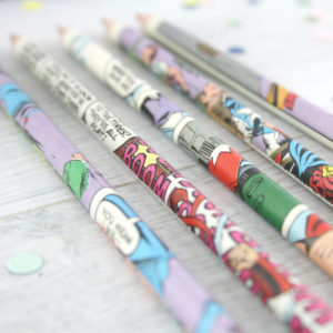 gifts for comic book geeks pencil sets