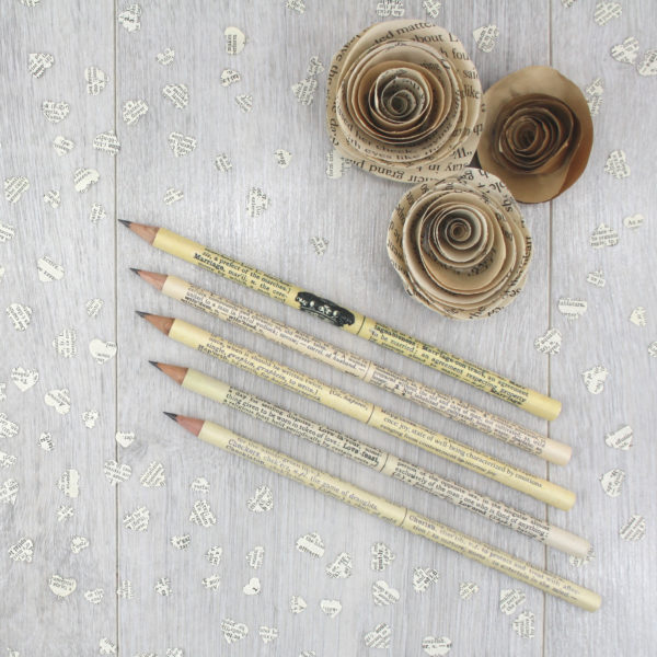 hand covered dictionary gift pencils by six0six design