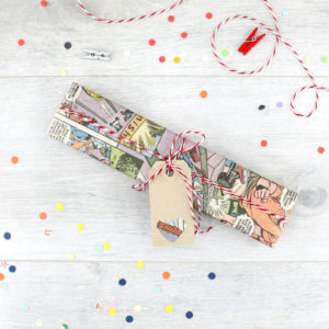 gift wrap your gift in vintage comic book pages