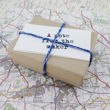 map in a bottle pendant in a gift box handmade in Ireland