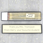 personalised dictionary gift pencils for teachers