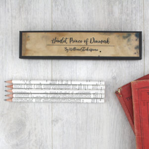 Shakespeare quote pencils from his plays