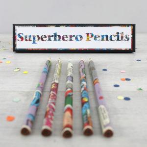 superhero gifts for boys comic book pencils