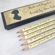 pride and prejudice gifts pencil set