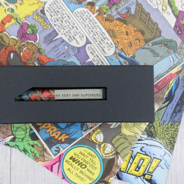 superhero comic book pen by six0six design