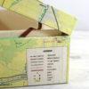 vintage map keepsake box by six0six design