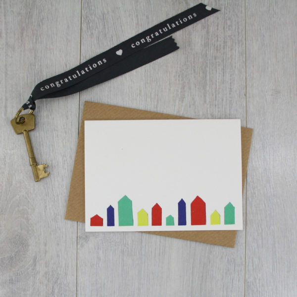 new house card tiny little houses new home handmade greeting card 1