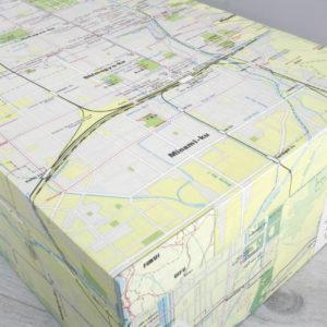 vintage map hand covered keepsake box