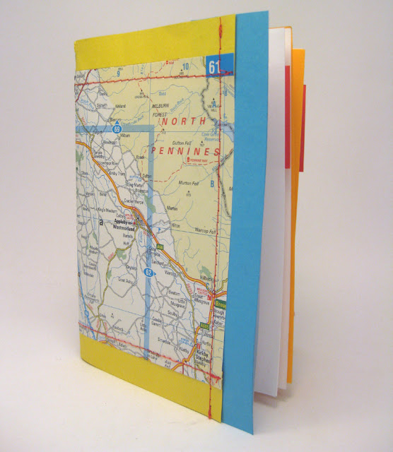 diy map cover notebooks