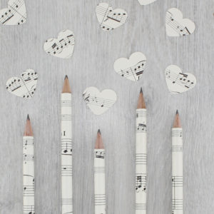 music sheet pencils gifts for music lovers by six0six design