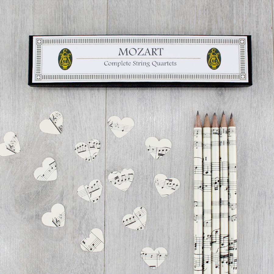 gifts for music lovers music sheet pencils