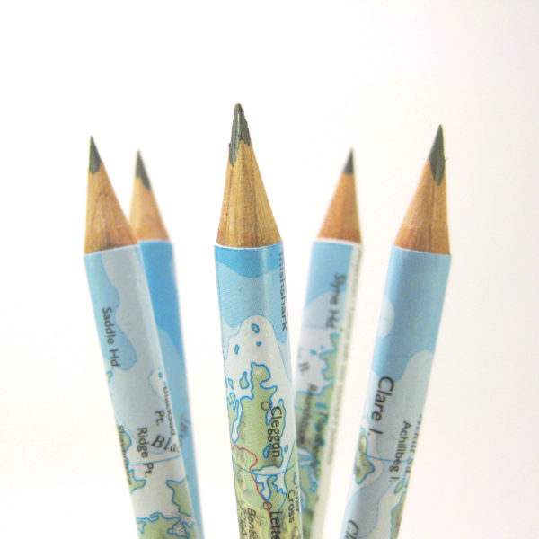 gifts for map lovers personalised map pencils