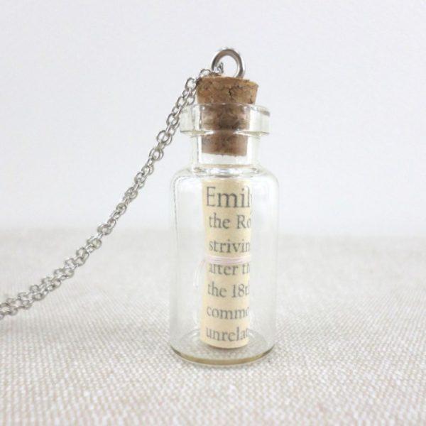 bridesmaid gift personalised name pendant