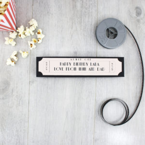 personalised birthday film pencil sets by six0six design