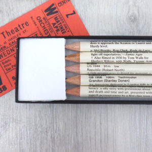 gifts for film fans cinema pencils by six0six design