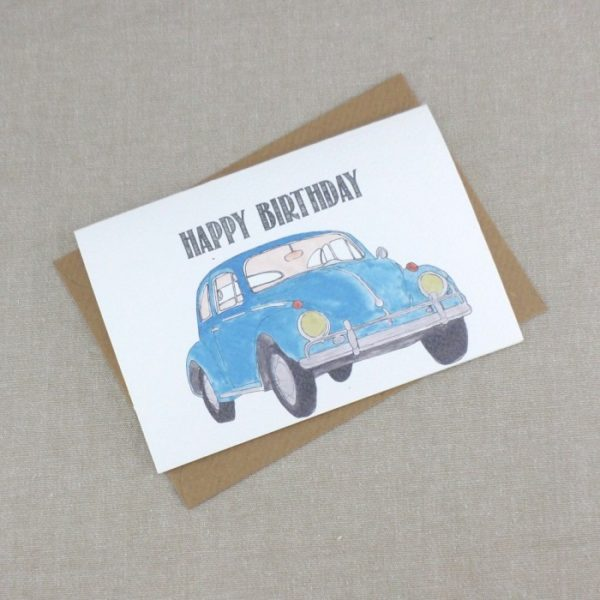 blue beetle happy birthday card for dad