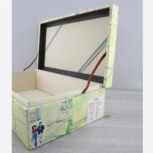 kyoto japan keepsake wedding box travel maps by six0six design