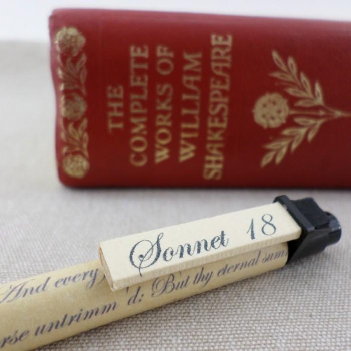 shakespeare sonnet pens