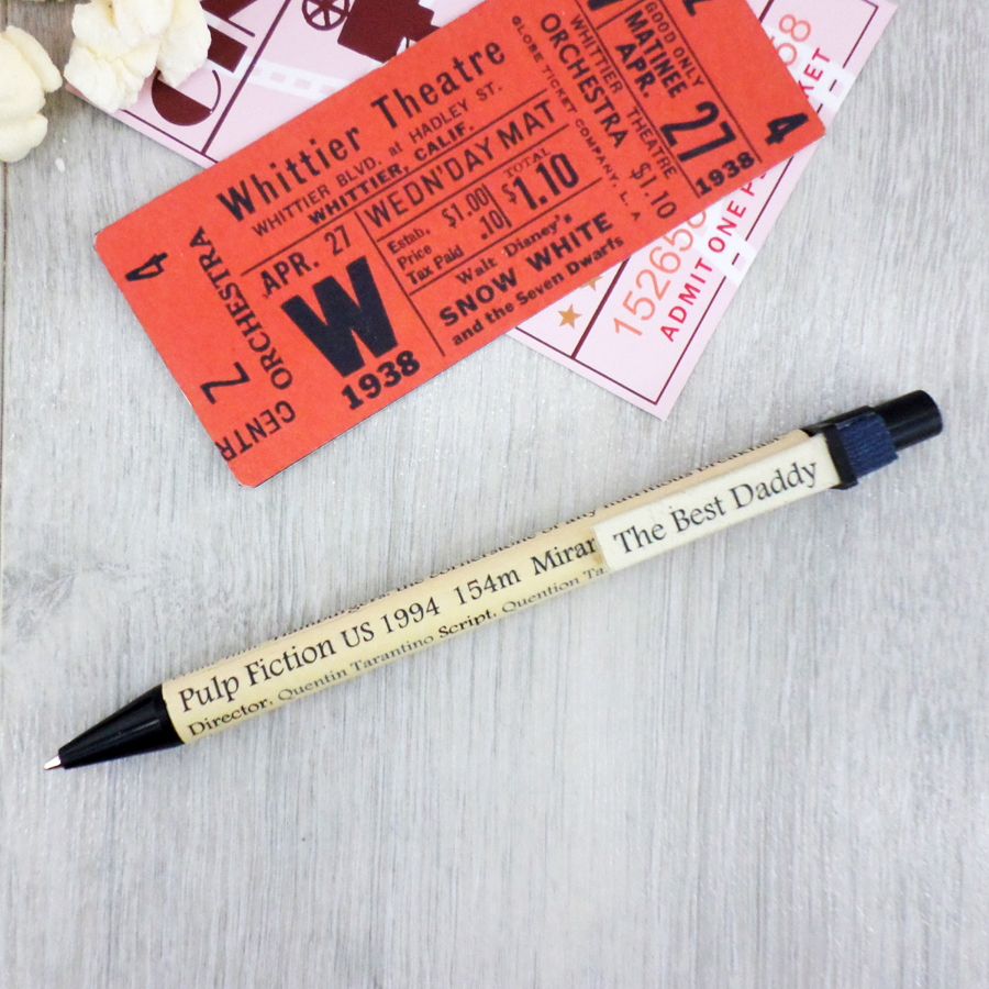 movie stationery personalised pens by six0six design