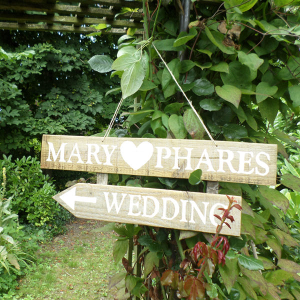 custom wedding styling vintage style signage