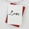 romantic love calligraphy card engagement card