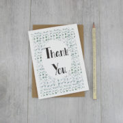 thank you card say thank you handmade card by six0six design 1