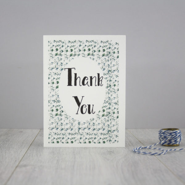 thank you greeting card handmade in ireland by six0six design 1