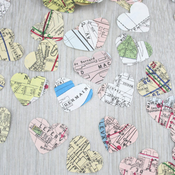 paris map confetti party decorations by six0six design