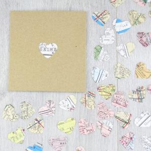 paris map confetti wedding favours
