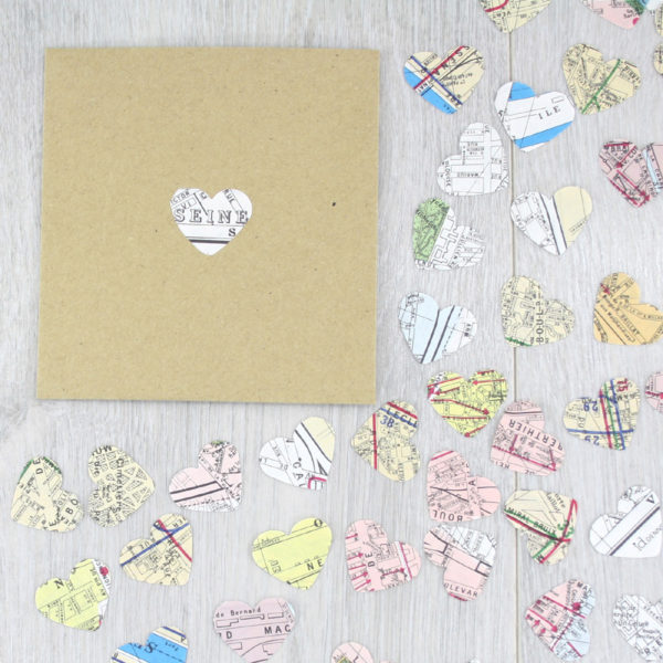 paris map confetti wedding favours