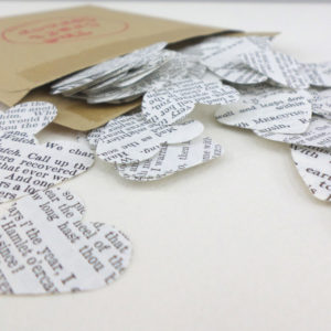Shakespeare confetti hearts