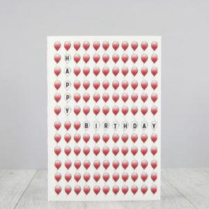 happy birthday balloons card by six0six design 1