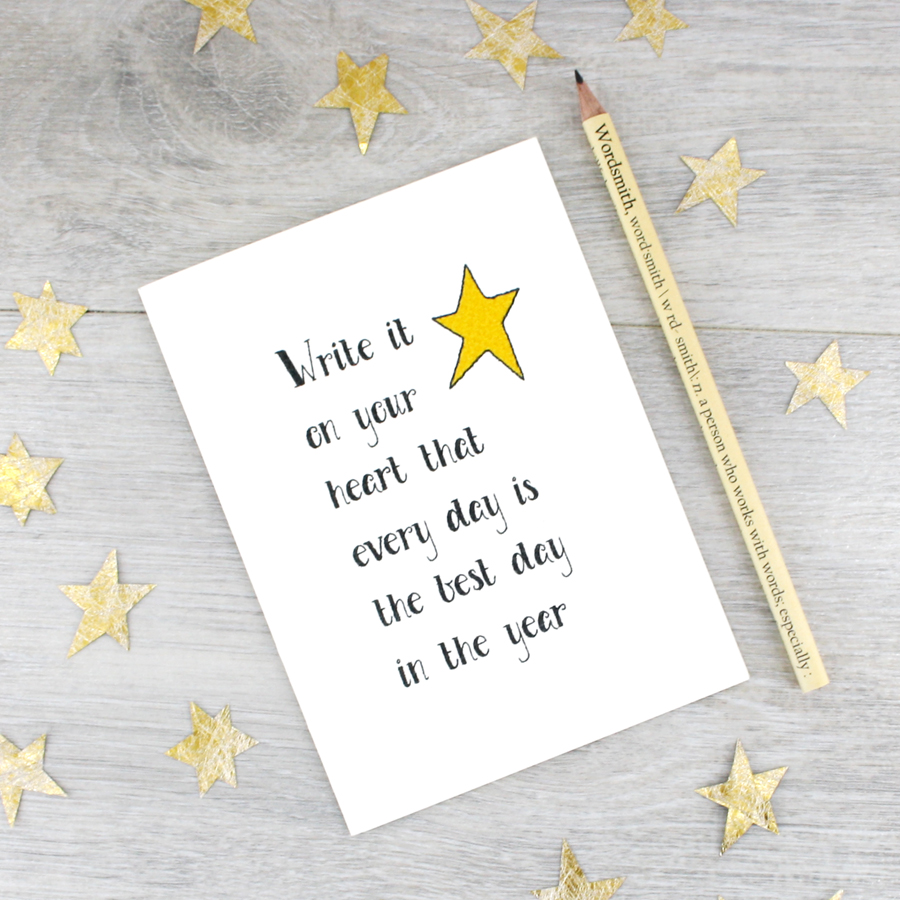 Inspirational Quote Card The Best Day Card Ralph Waldo Emerson Card