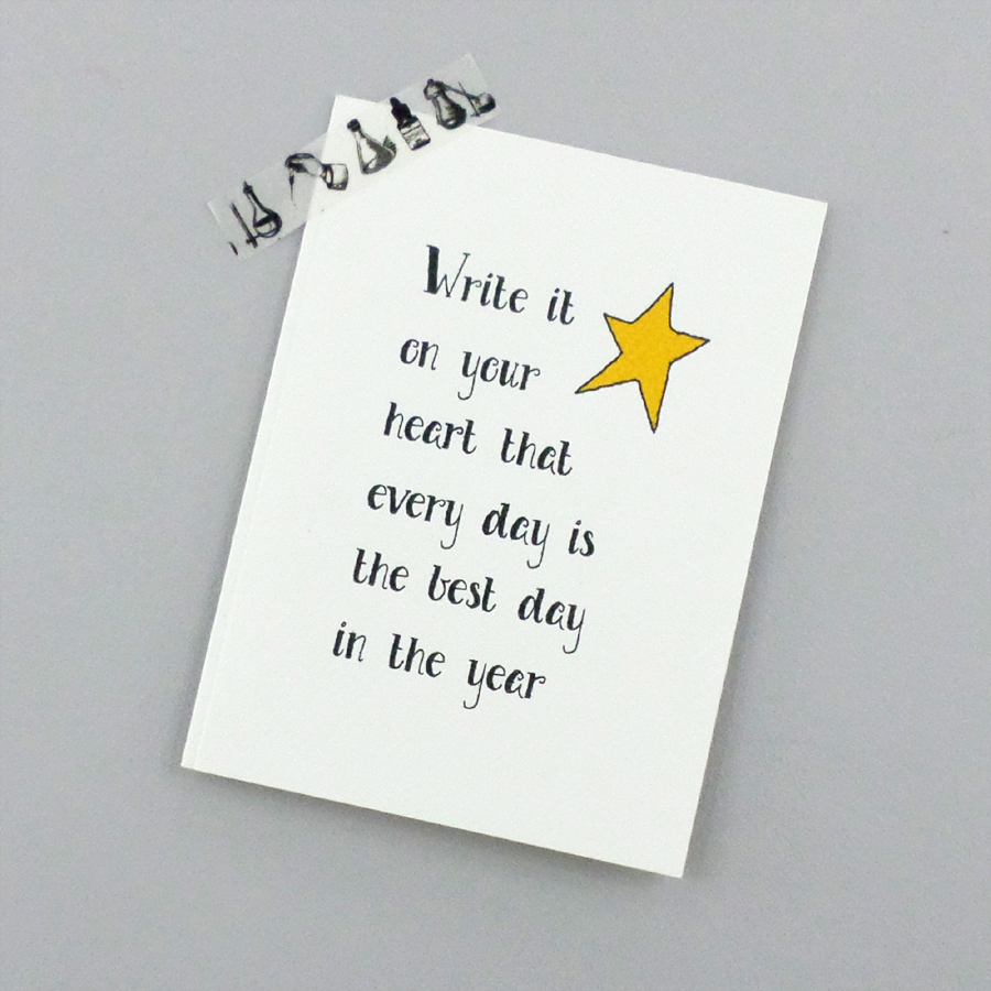 Inspirational Quote Card - The Best Day Card - Ralph Waldo Emerson Card