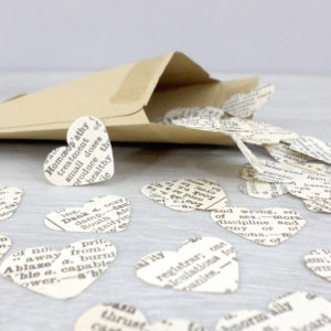 dictionary confetti hearts
